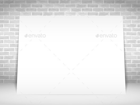 White Paper Banner - Objects Vectors