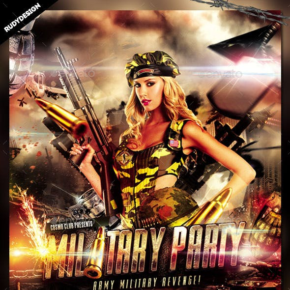 Army Military Flyer Template Design