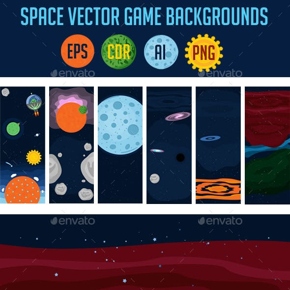 6 Space Game Backgrounds