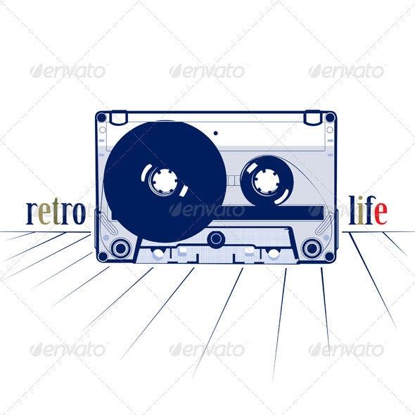 Audio Tape Casette Icon - Media Technology