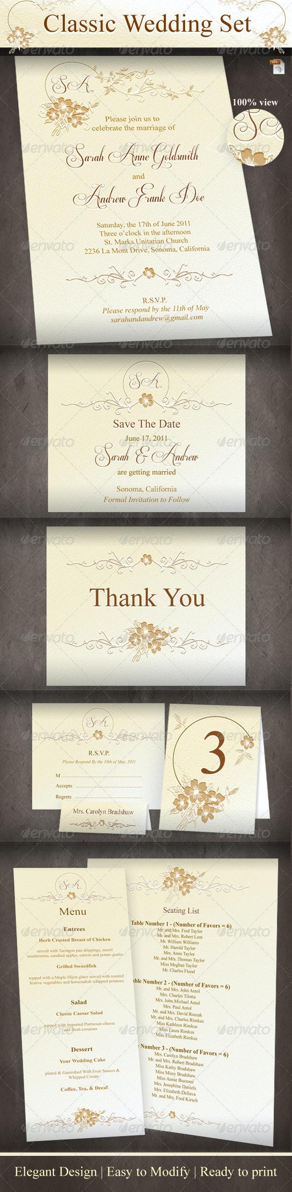 Classic Wedding Set - Weddings Cards & Invites