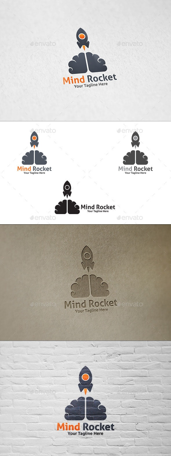 Mind Rocket - Logo Template - Objects Logo Templates