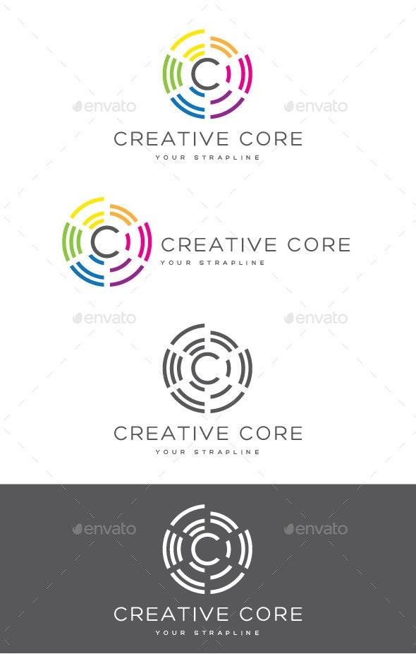 Creative Core Letter C Logo - Letters Logo Templates