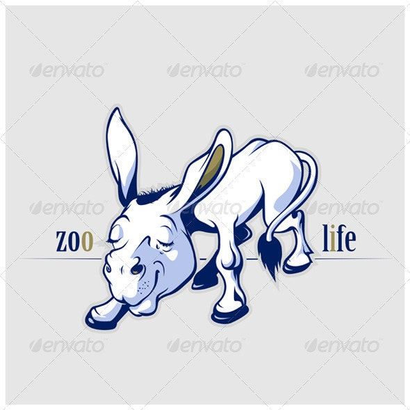 Cartoon Donkey Smile - Animals Characters