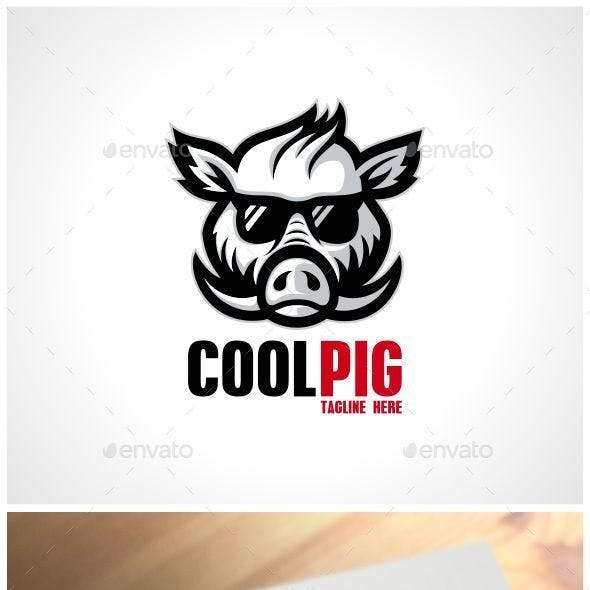 Cool Pig Logo Template