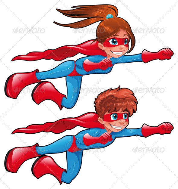 Young superheroes - People Characters
