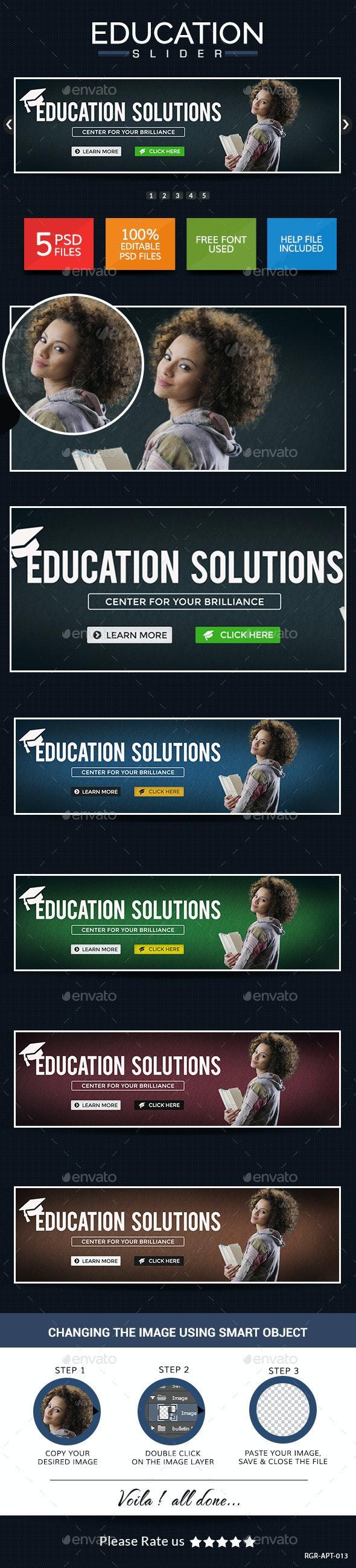 Education Sliders - Sliders & Features Web Elements