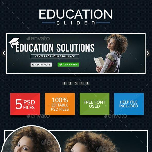 Education Sliders