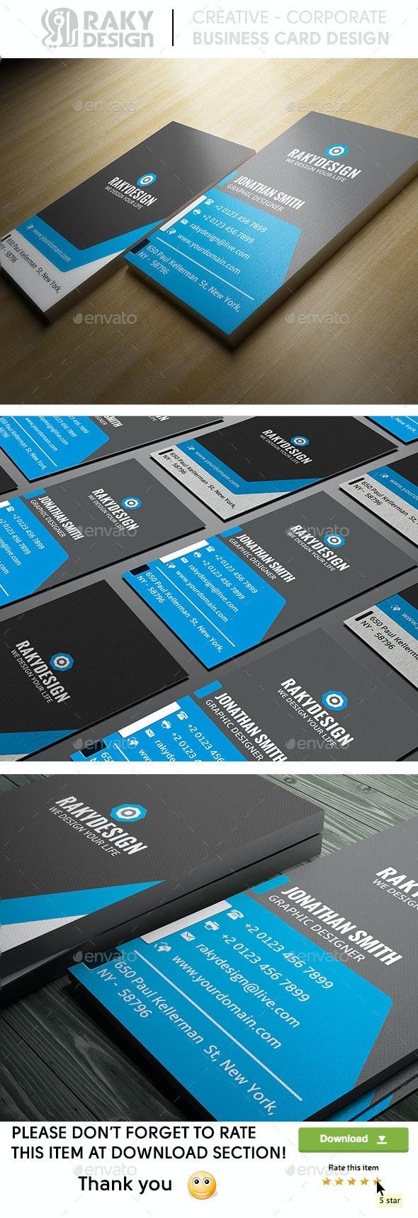 Blue Corporate Business Card - Corporate Business Cards