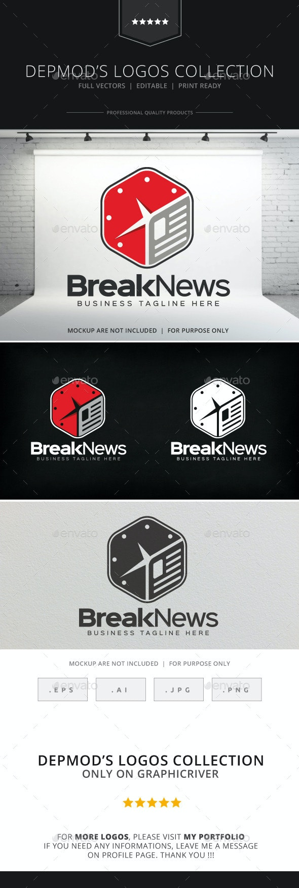 Break News Logo - Symbols Logo Templates