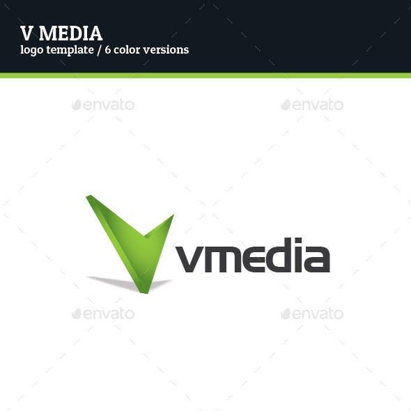 V Media Logo Template