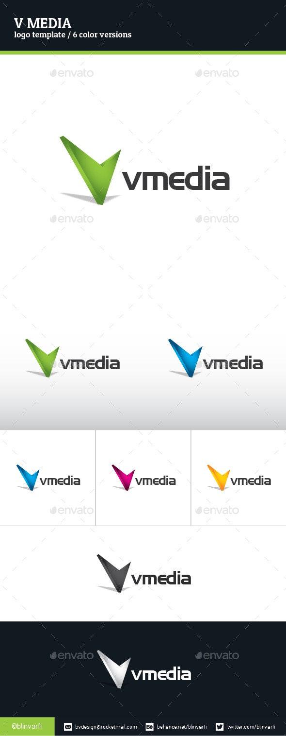 V Media Logo Template - Letters Logo Templates