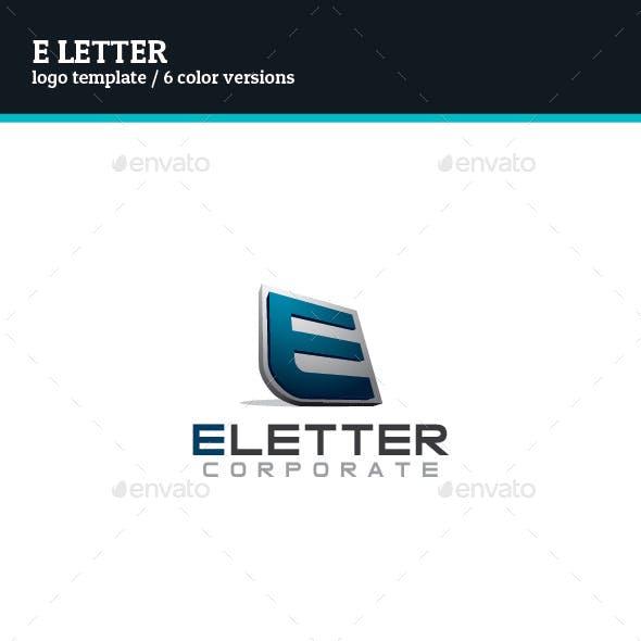 E Letter Logo Template