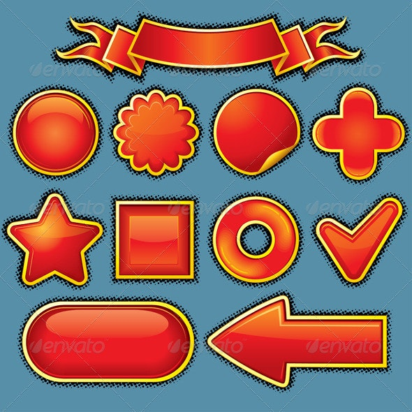 Red Design Elements - Characters Vectors