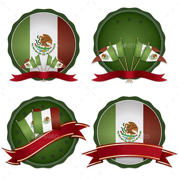 Mexico Emblems - Decorative Symbols Decorative