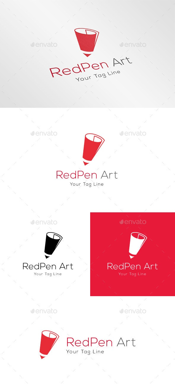 Red Pen Art - Objects Logo Templates