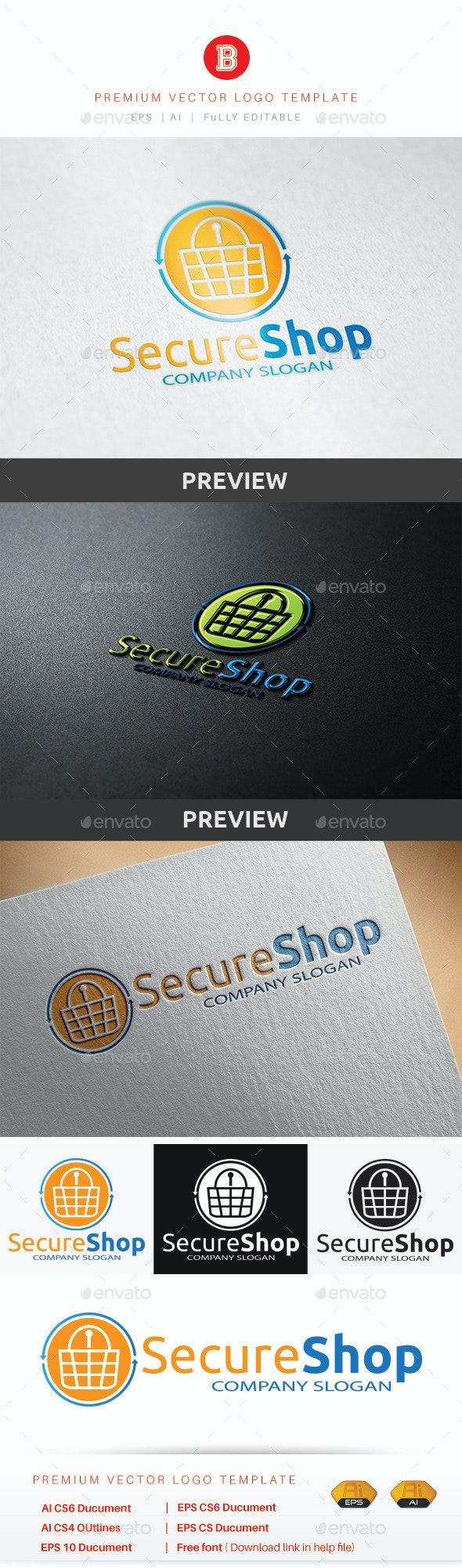 Secure Shop - Objects Logo Templates