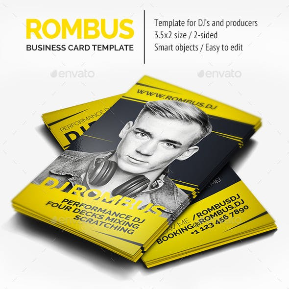 Rombus - DJ Business Card