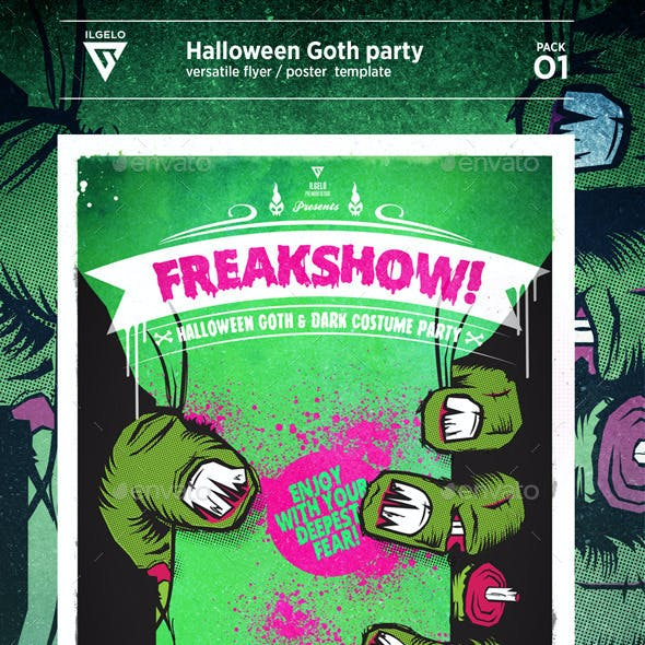 Halloween Goth Party / Poster Pack .01