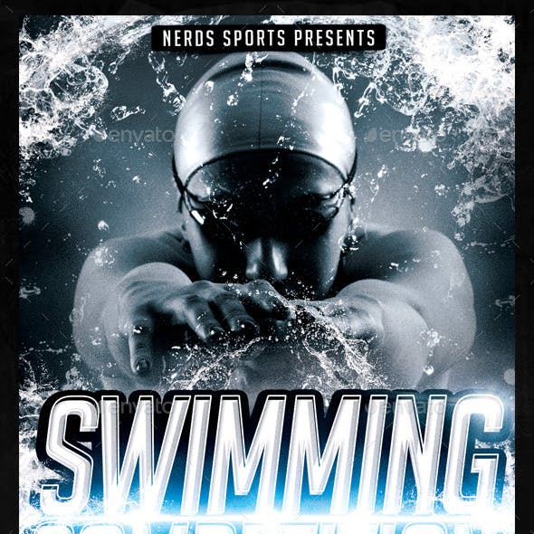 Swimming Competition Flyer