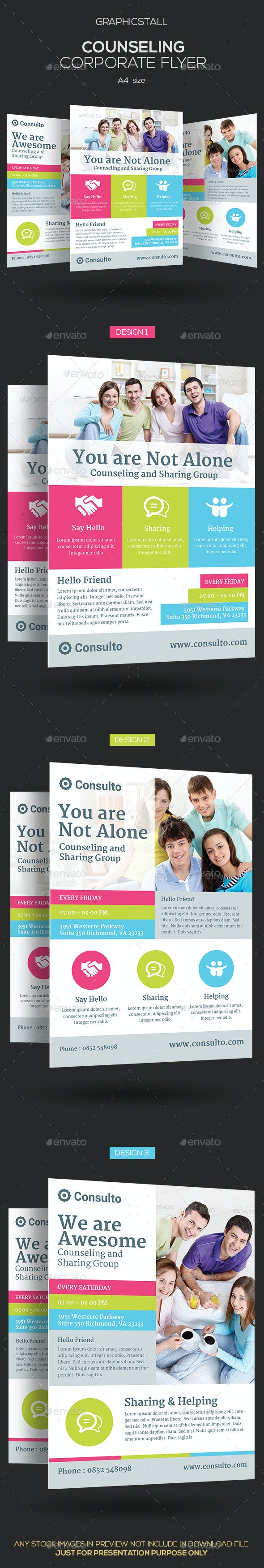 Counseling Corporate Flyer - Corporate Flyers