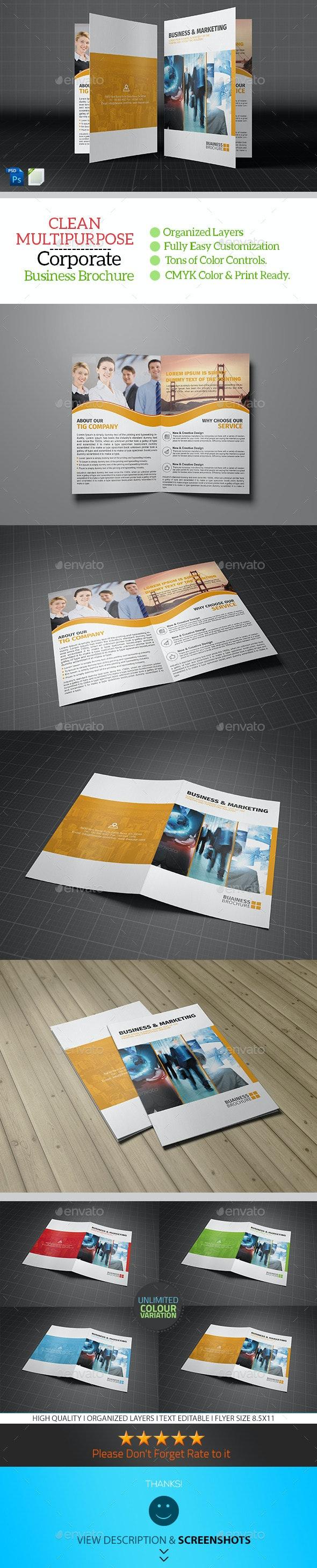 Corporate Bifold Brochure Template Vol02 - Corporate Brochures