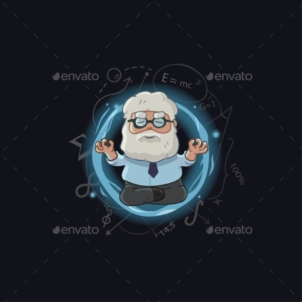 Cartoon Illustration of Scientist Character - People Characters