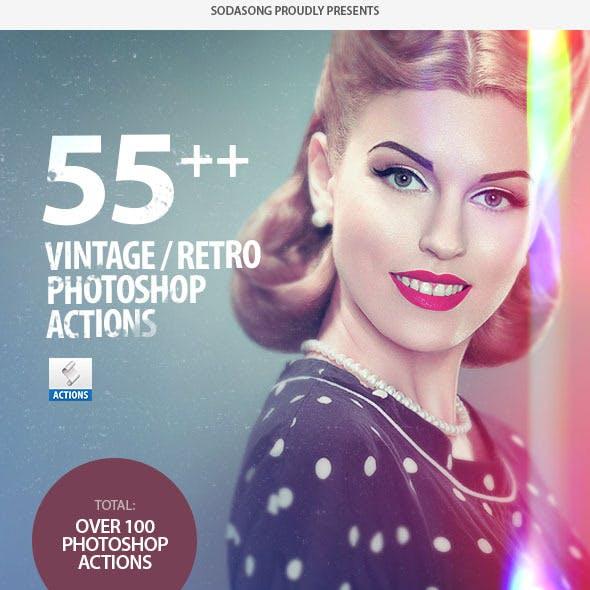 55+ Vintage / Retro Effects - Photoshop Actions