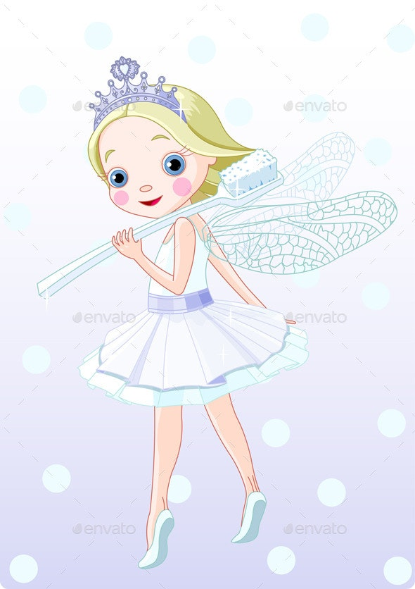 Tooth Fairy with Toothbrush - People Characters