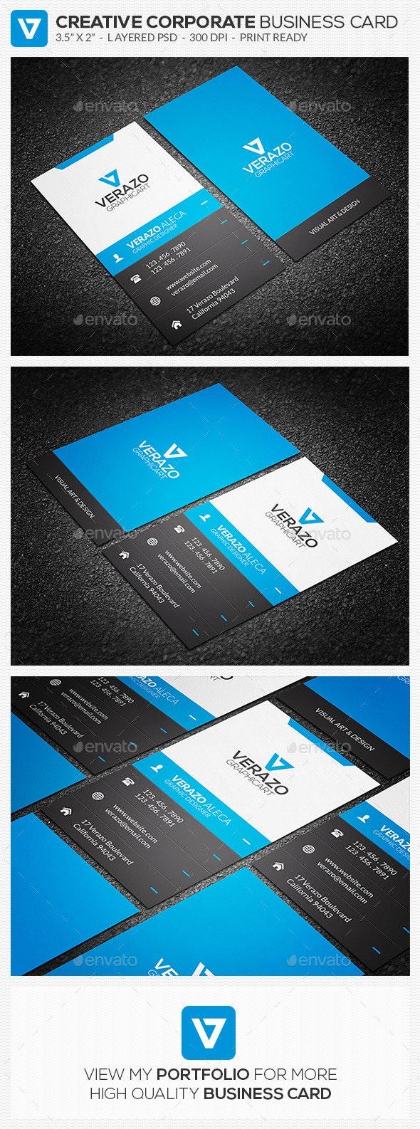 Creative Corporate Business Card 61 - Creative Business Cards