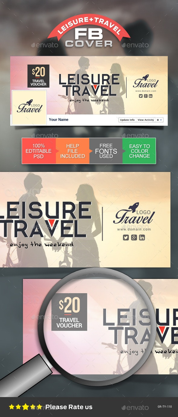Travel & Tourism Facebook Cover Page - Facebook Timeline Covers Social Media