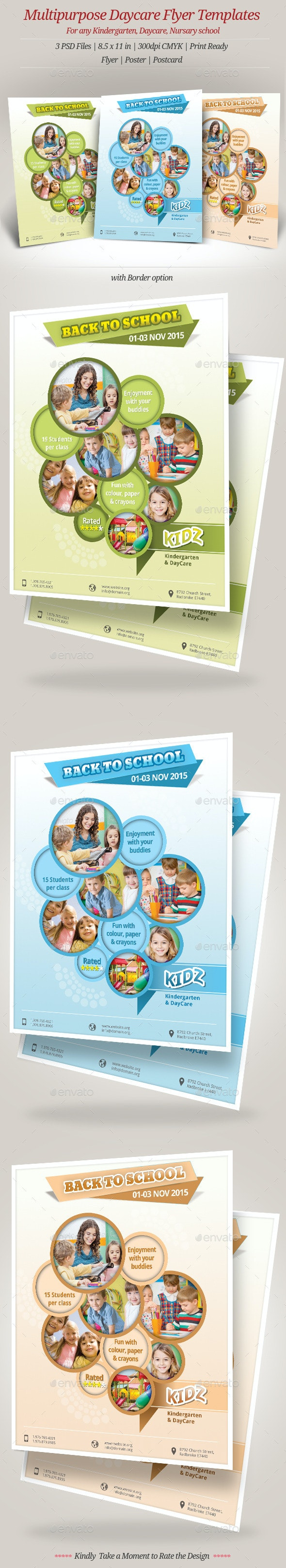 Multipurpose Daycare Flyer Templates - Events Flyers