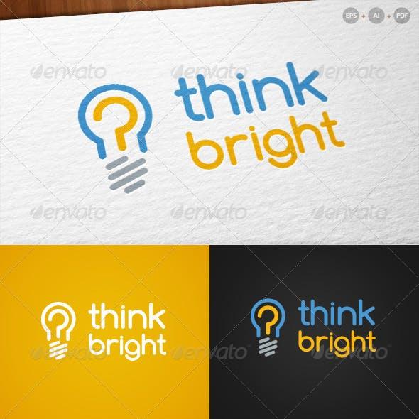 'Think Bright' - Innovative Logo