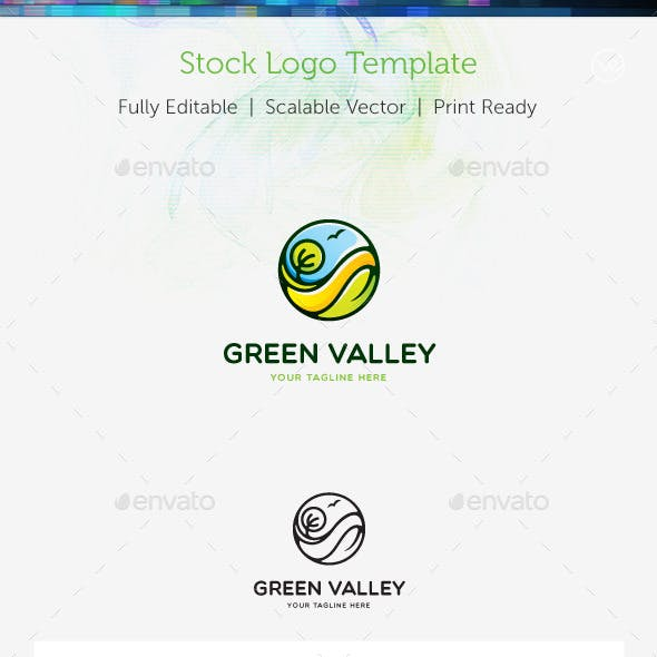 Green Valley Stock Logo Template