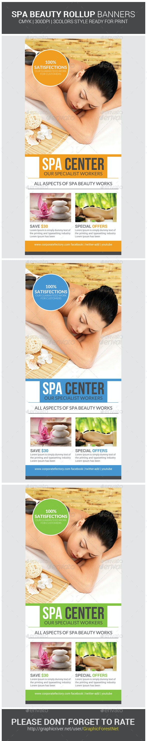 Spa & Beauty Saloon Roll-up Psd Banners