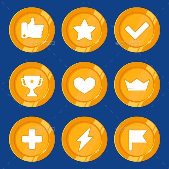 Vector Cartoon Gamification Badges
