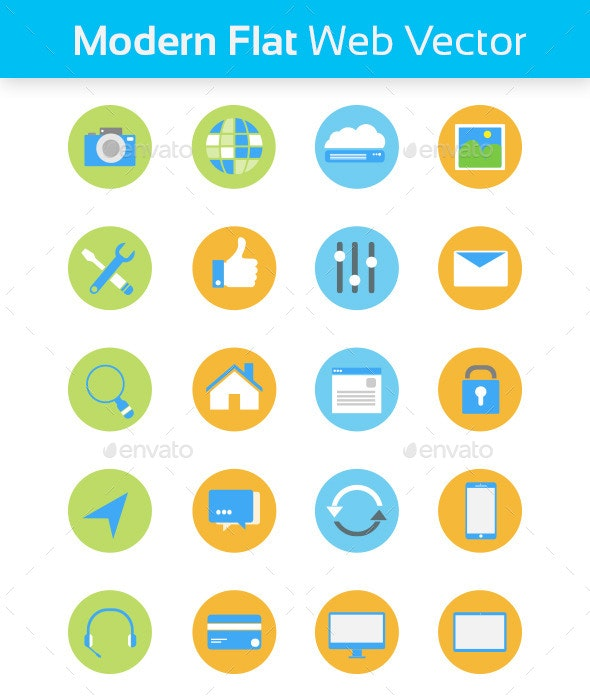 Modern Flat Web Vector - Web Icons