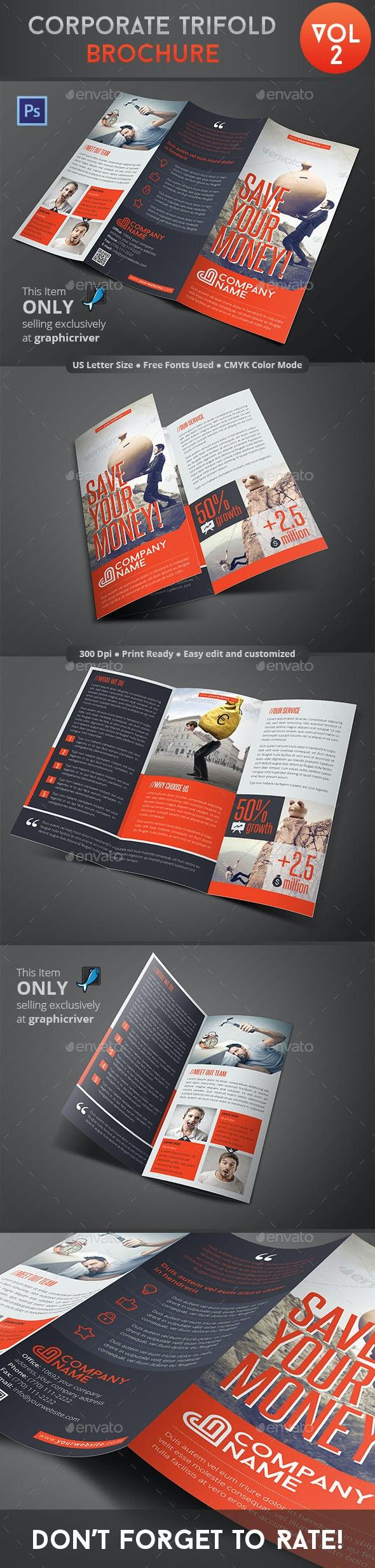 Corporate Trifold Brochure Vol 2 - Corporate Brochures