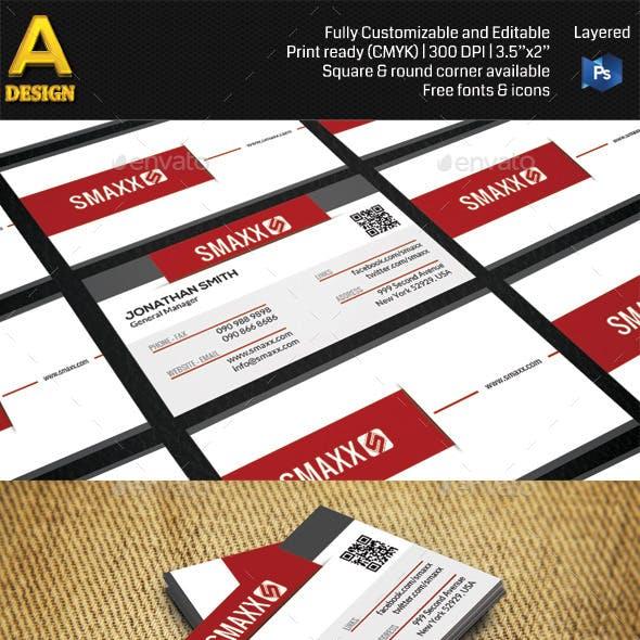 Modern Corporate Business Card HP0001