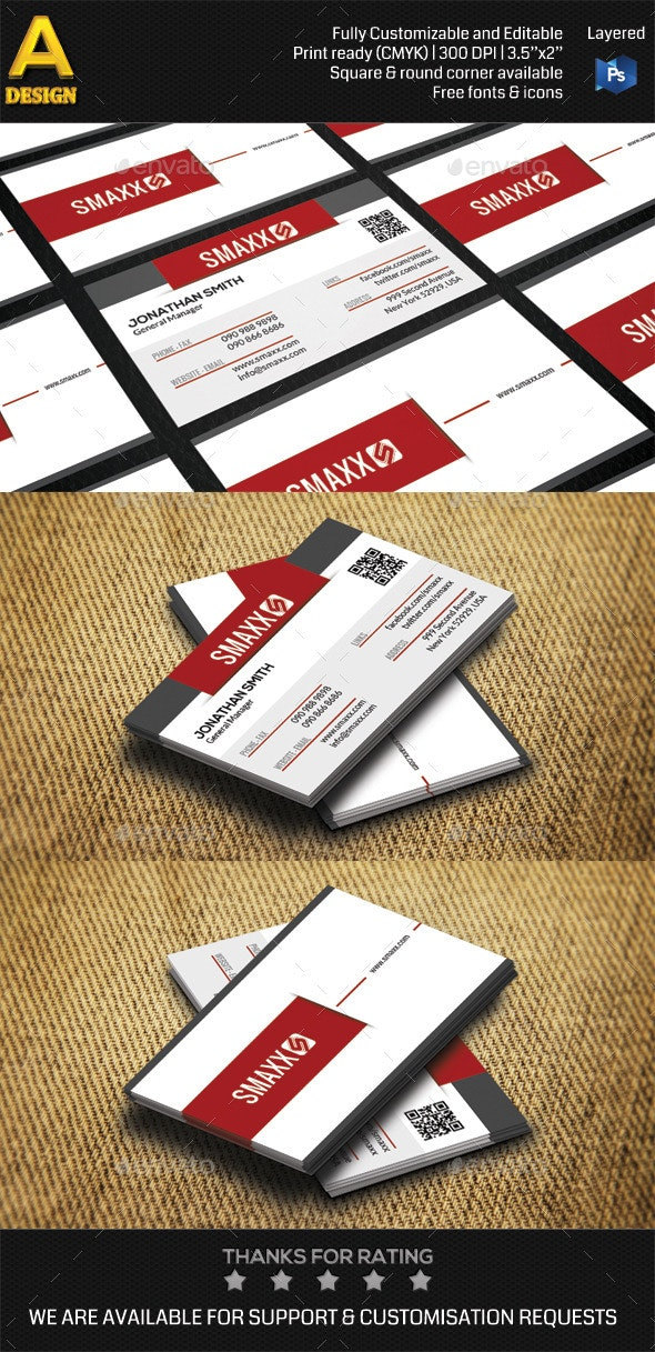 Modern Corporate Business Card HP0001 - Corporate Business Cards