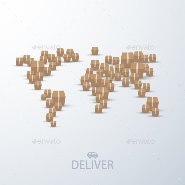 Vector Modern Concept Delivery Background - Services Commercial / Shopping
