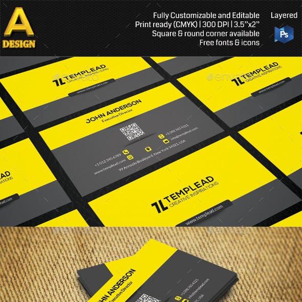 Modern Corporate Business Card HP0007