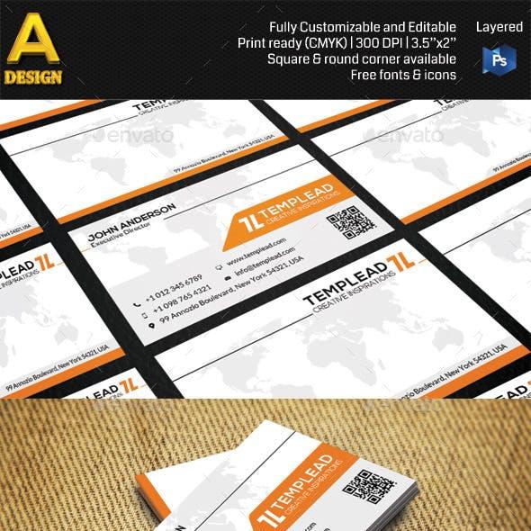 Modern Corporate Business Card HP0010