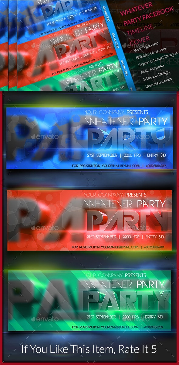 Whatever Party Facebook Timeline Cover - Facebook Timeline Covers Social Media