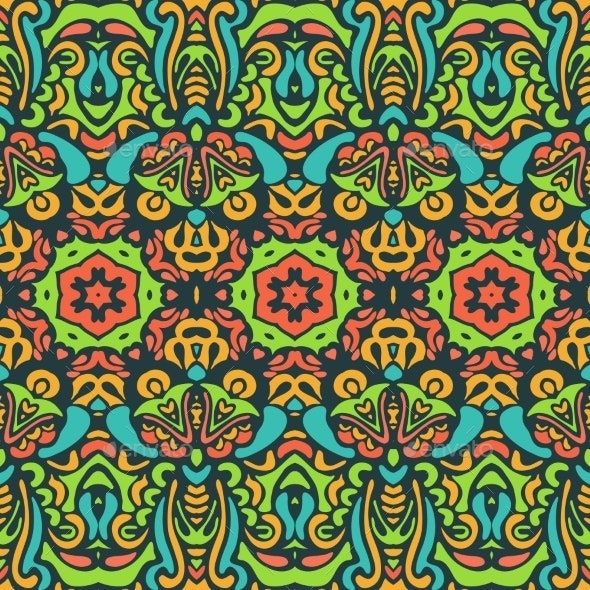 Vector Abstract Ornamental Background Texture - Patterns Decorative