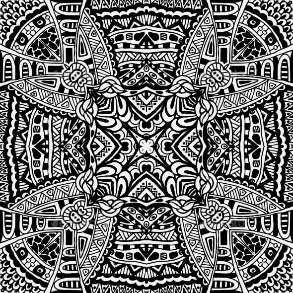 Tribal Vintage Ethnic Seamless Pattern - Patterns Decorative