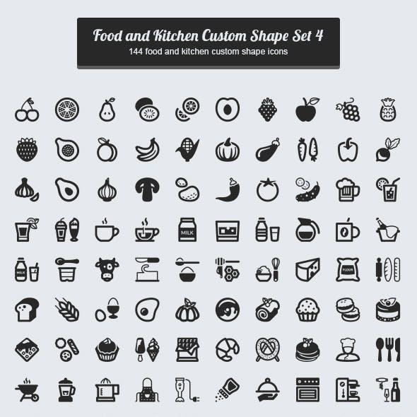 144 Food and Kitchen Custom Shape / Set 4