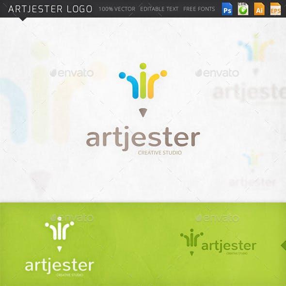 Artjester Pencil Jester Hat Logo Template