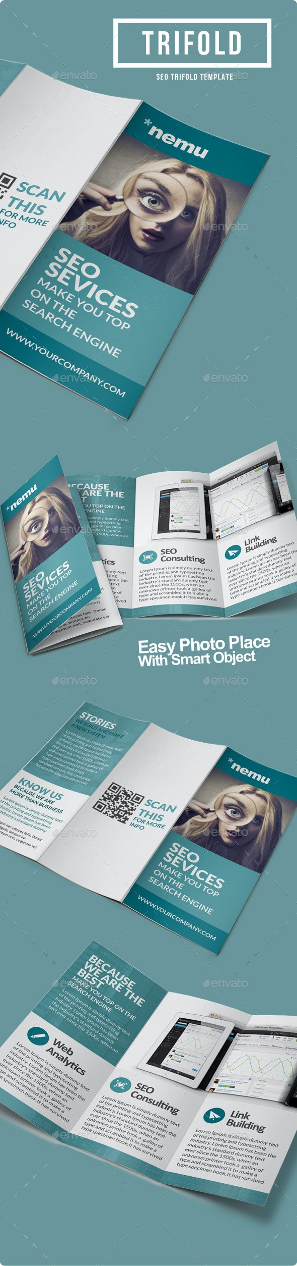 SEO Marketing Trifold Brochure - Informational Brochures