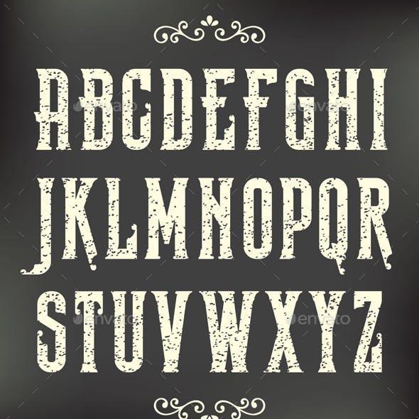 Vintage Grunge Font